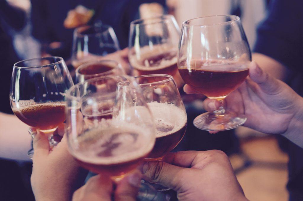 People having a toast